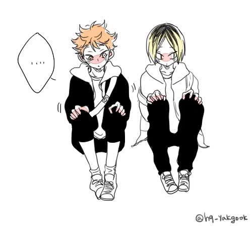Watch and share Hainata Shouyou GIFs and Kozume Kenma GIFs on Gfycat
