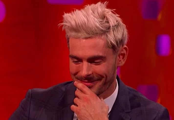blush, don't, efron, embarrassed, first, god, graham, hide, kiss, my, no, norton, oh, omg, please, ruin, show, shy, zac, Zac Efron is embarrassed | The Graham Norton Show GIFs