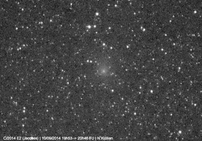 astrophotography, Comet C/2014 E2 Jacques, comet-centered timelapse (reddit) GIFs
