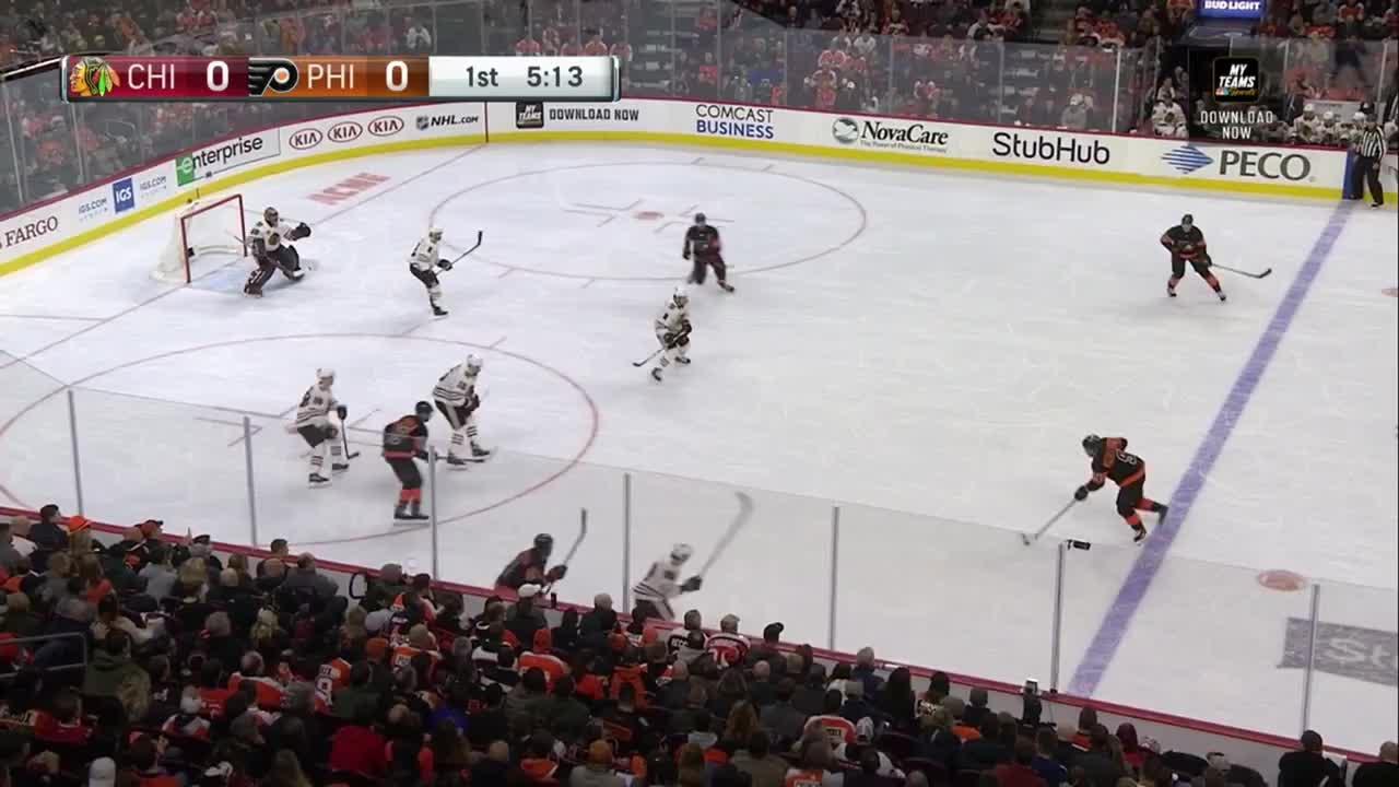 Chicago Blackhawks, hockey, Claude Giroux (7th)  GIFs