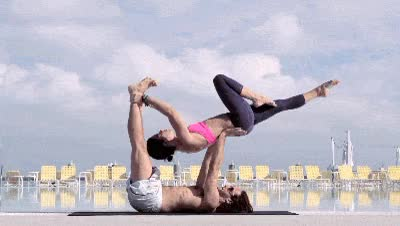 Watch Yoga fun GIF on Gfycat. Discover more related GIFs on Gfycat