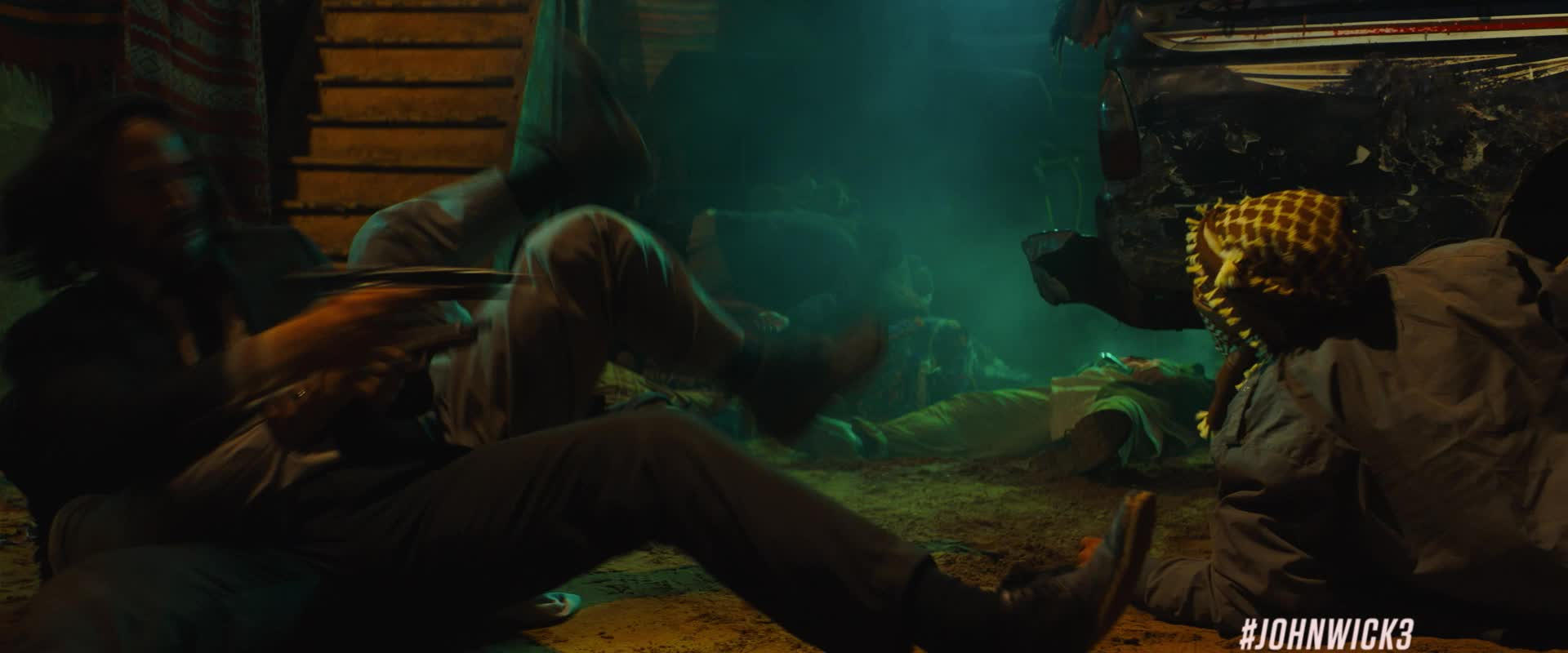 empty gun, fight, guns, john wick, john wick 3, john wick chapter 3, john wick chapter 3 parabellum, keanu reeves, reload, shooting, John Wick Empty Gun Reload GIFs
