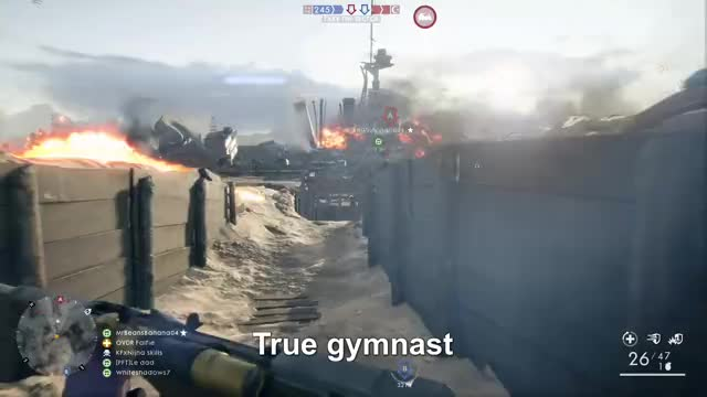 Watch Battlefield Gymnast GIF by Gamer DVR (@xboxdvr) on Gfycat. Discover more Battlefield1, OVDR Falfie, xbox, xbox dvr, xbox one GIFs on Gfycat