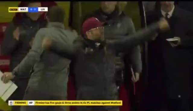 Watch and share Klopp Firmino Celebration GIFs on Gfycat