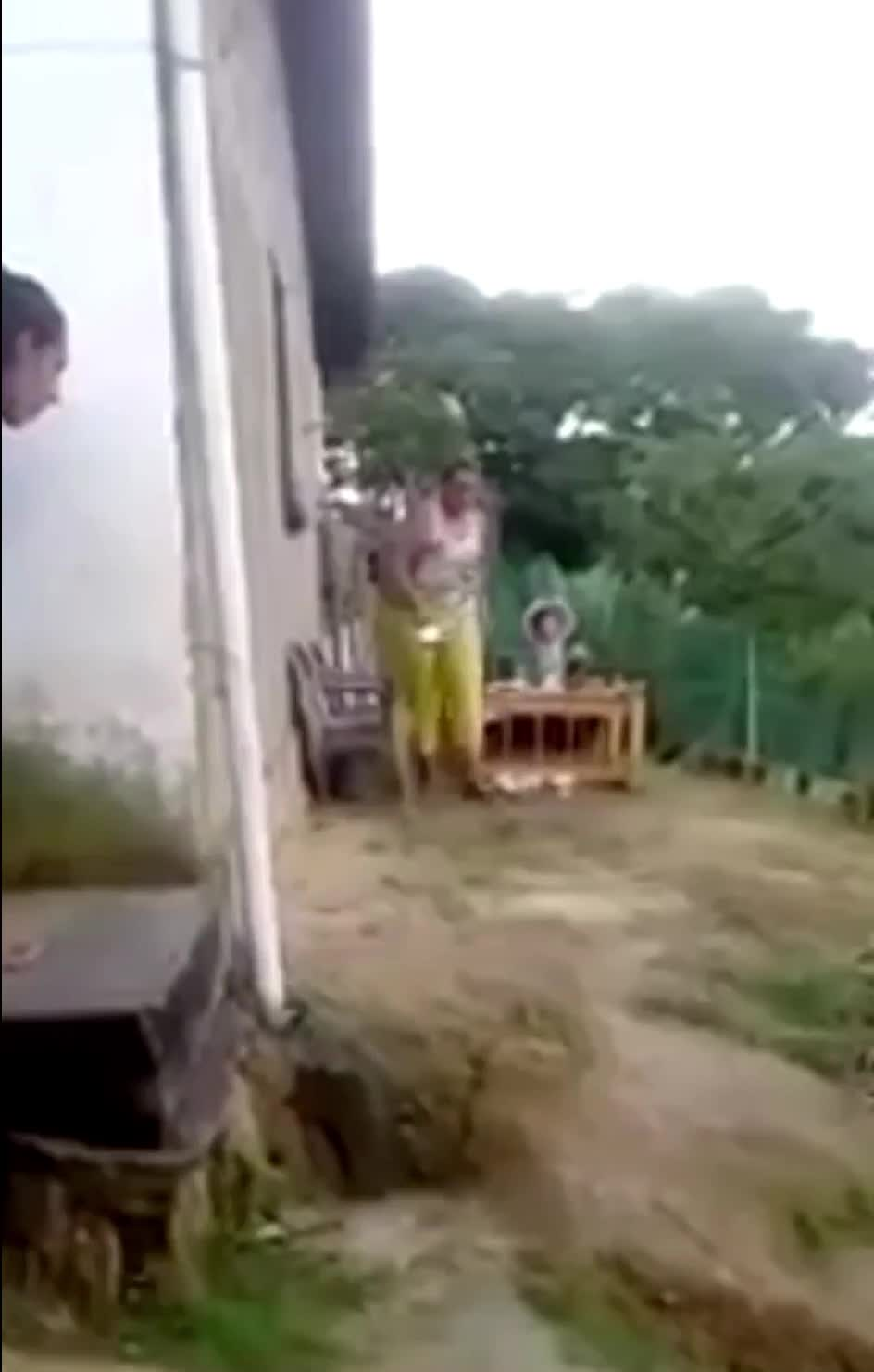 GIF Brewery, WCGW, boy, fail, funny, hit, instant, instantregret, lol, mother, mum, regret, sad, WCGW if I scared my mother GIFs