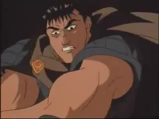 animation, anime, blood, changing, fights, greatest, griffith, guts, manga, stabbed, Berserk - Zodd the Immortal fight GIFs