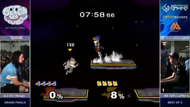 Watch C9 Mang0 (Falco, Marth, Falcon) vs TSM RB Leffen (Fox) - GOML2016 - Grand Final GIF by ahampster (@ahampster) on Gfycat. Discover more grsmash, smashgifs, top GIFs on Gfycat