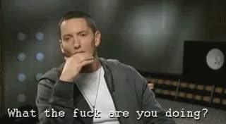Watch and share Eminem What The Fuck Are You GIFs on Gfycat