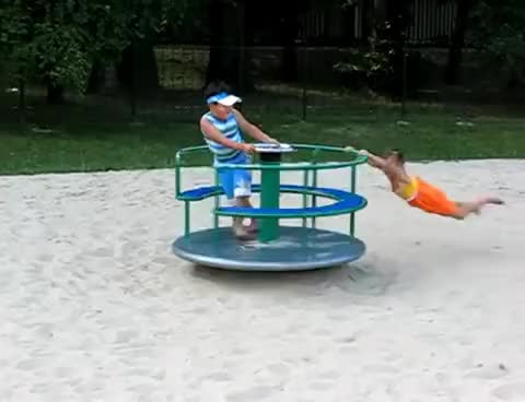 Watch and share Kids Flying A Carousel GIFs on Gfycat