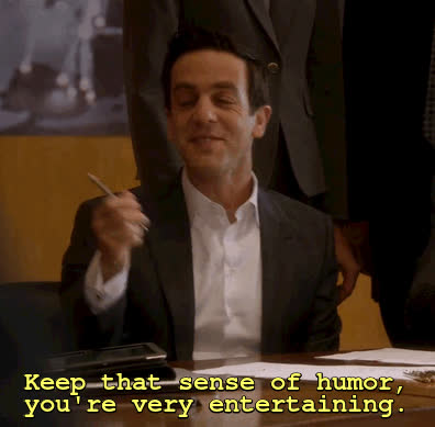 b. j. novak, sense of humor ryan the temp gif GIFs