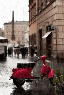 Rainy Italy GIFs