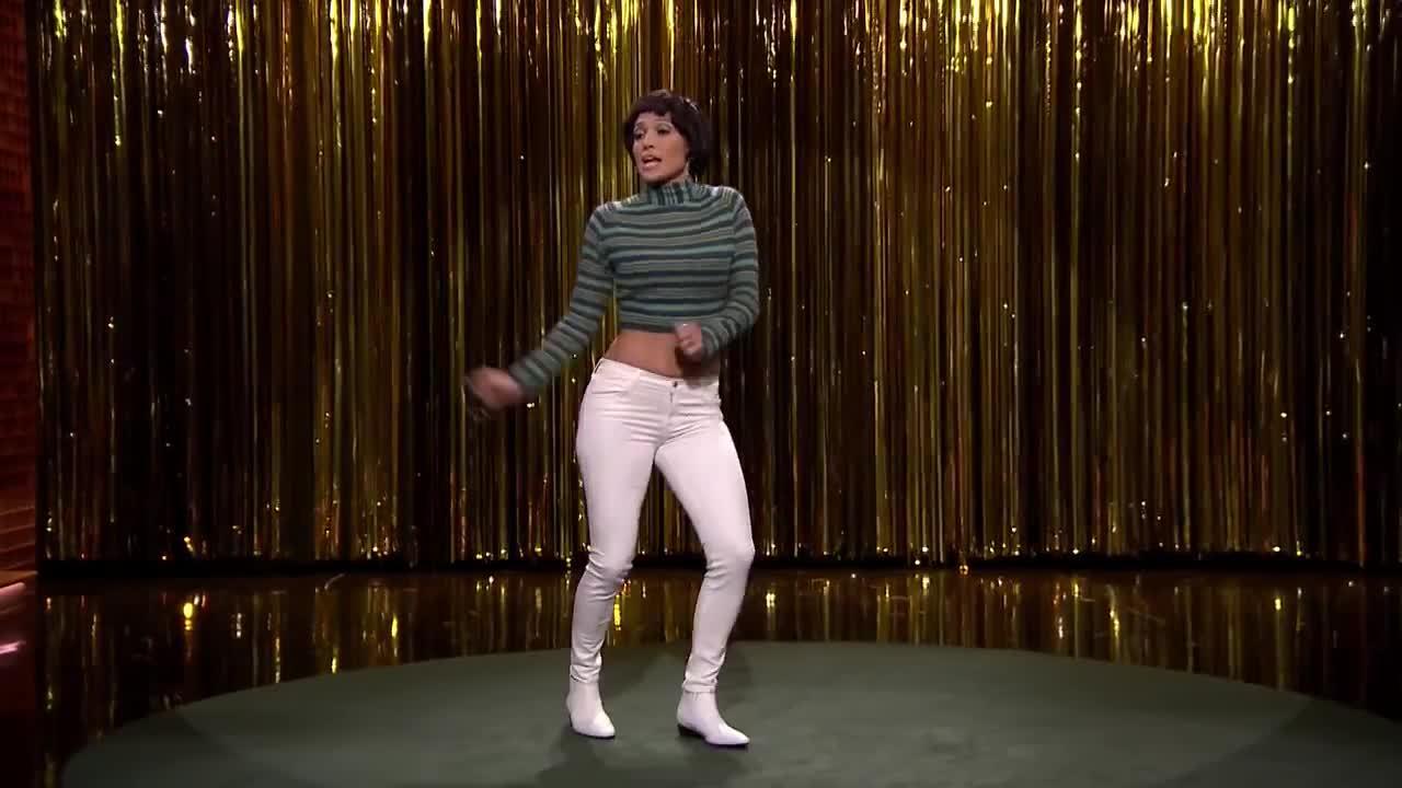 JenniferLopez, JimmyFallon, TheTonightShow, jennifer lopez, jenniferlopez, jimmyfallon, thetonightshow, Jennifer Lopez in The Tonight Show 2014-06-09 GIFs