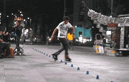 rollerblading taco trauma gif GIFs