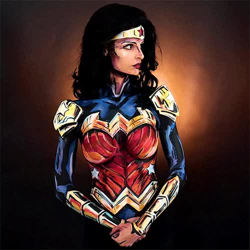 Watch and share Wonder Woman GIFs and Bodypaint GIFs by KayPikeFashion  on Gfycat