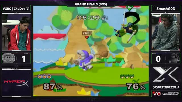 S@X 189 - VGBC | ChuDat (Ice Climbers) Vs. SmashG0D (Marth) - SSBM Grand Finals - Smash Melee