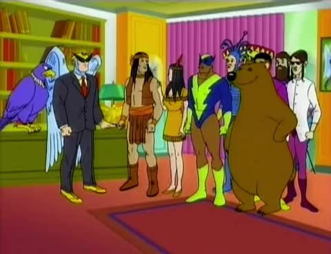 Watch and share Harvey Birdman - The Multiculture Pals! GIFs on Gfycat