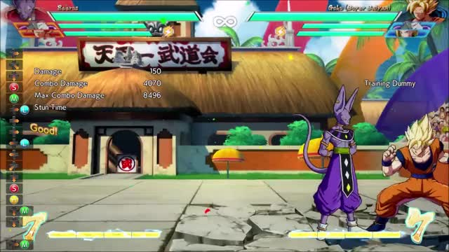 Watch Beerus combo GIF on Gfycat. Discover more Dragon Ball FighterZ, dbfz GIFs on Gfycat