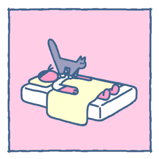 alarm, artist on tumblr, cat, erin kim, good morning, wake up, Good Morning Cat GIFs
