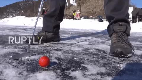 Watch and share 'Ice Golfers' Tee Off On Lake Baikal (VIDEO) — RT Viral GIFs on Gfycat
