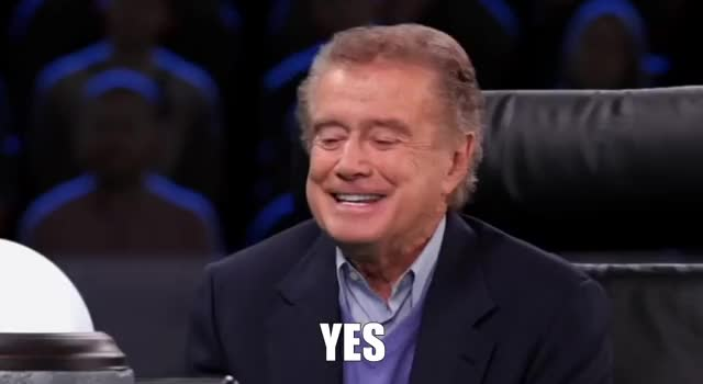 Watch this yes GIF by The GIF Forge (@leahstark) on Gfycat. Discover more Affirmative, Agreeing, Regis Philbin, YES GIFs on Gfycat