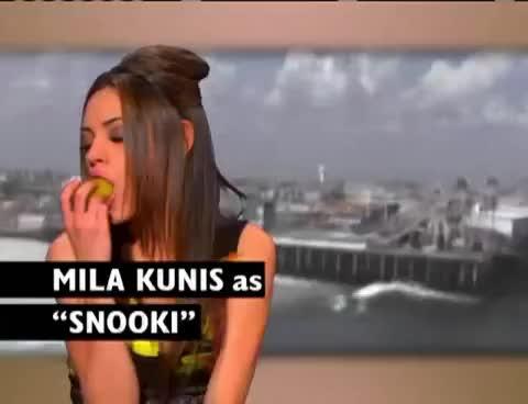 mila kunis, Mila Kunis Snooki Spoof GIFs
