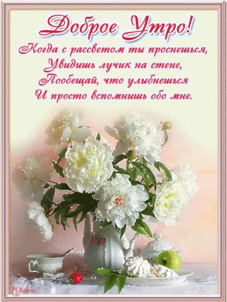Watch and share Романтические Открытки Девушке С Добрым Утром animated stickers on Gfycat