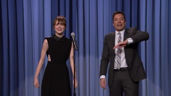 emma stone, fallon tonight, jimmy fallon, the tonight show, Emma Stone GIFs