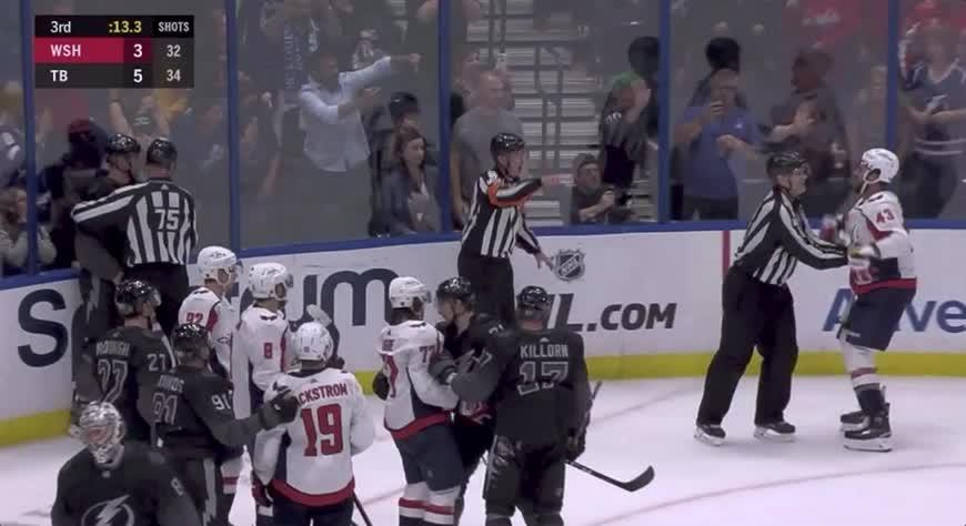 Wilson throws the gloves GIFs