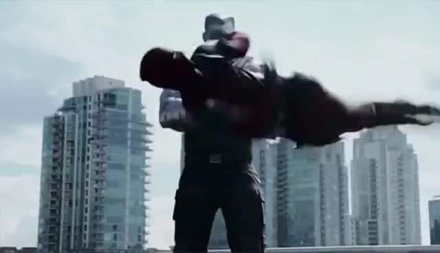 Watch Deadpool Kicks Colossus GIF on Gfycat. Discover more Colossus, Deadpool, Funny, Kick, Negasonic Teenage Warhead, Ryan Reynolds, Wade Wilson GIFs on Gfycat