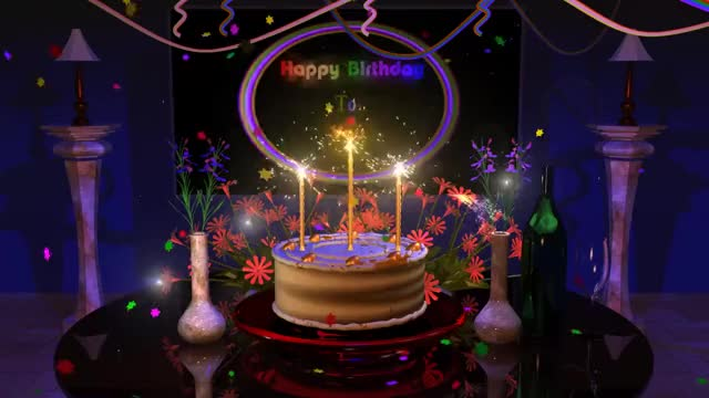 Watch Magical Cake Animated Happy Birthday Song GIF On Gfycat Discover More 3D