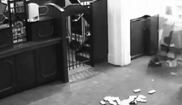Watch Bank robbery fail: Suspect drops thousands of dollars in bank and gets caught GIF on Gfycat. Discover more related GIFs on Gfycat