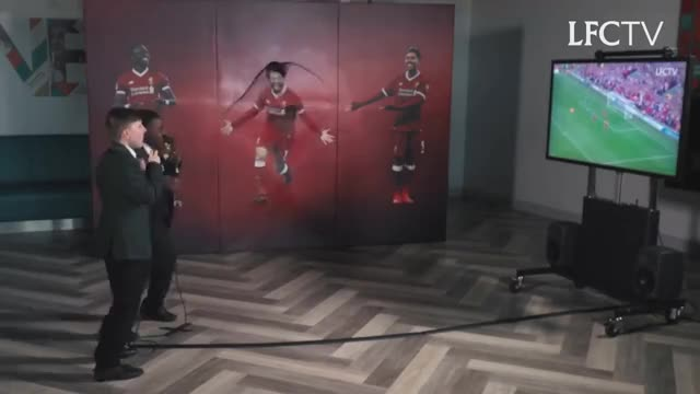 Watch Mo Salah bursts through wall to surprise kids | KOP KIDS PRANK GIF on Gfycat. Discover more All Tags, EPL, anfield, lfc, liverpool, melwood, pl, prank, subtitles, surprise GIFs on Gfycat