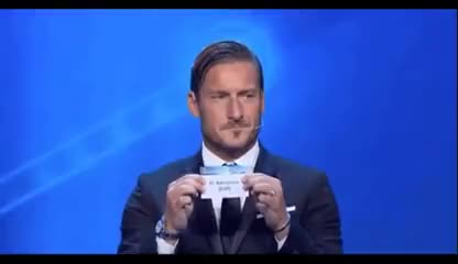 Watch Sorteggi Champions, Totti pesca il Barcellona per la Juve e guarda verso Buffon GIF on Gfycat. Discover more related GIFs on Gfycat