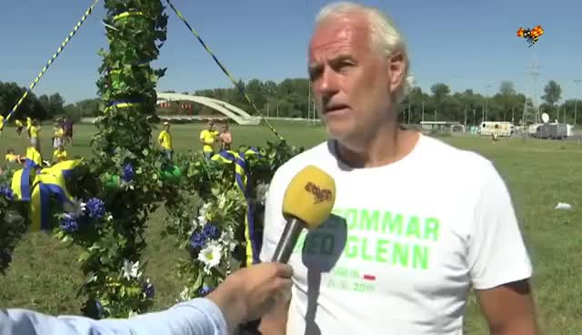 Glenn Hysén leder midsommarfirandet i Polen: