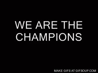 Watch and share We Are The Champions GIFs on Gfycat