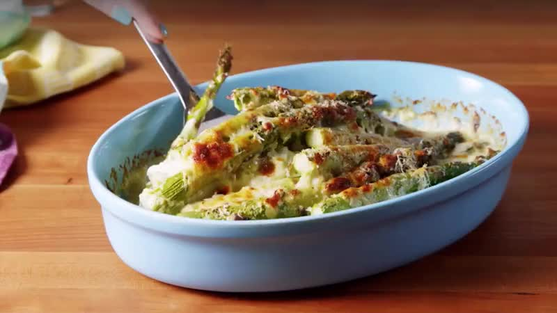 recipe, Cheesy Baked Asparagus GIFs