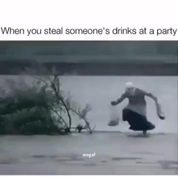 Watch and share WHEN YOU STEAL SOMEONE'S DRINKS AT A PARTY GIFs on Gfycat