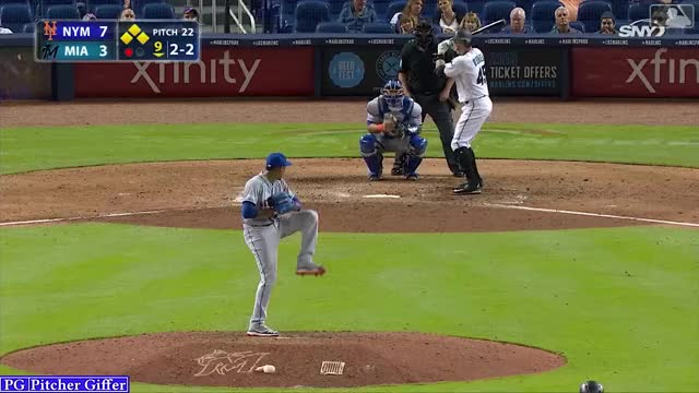 Watch and share Miami Marlins GIFs and New York Mets GIFs by Pitcher Giffer on Gfycat