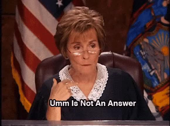 Watch this um GIF on Gfycat. Discover more hmm, judge judy, judith sheindlin, judy sheindlin, thinking, thinking face, tv court, uh, uh what, um, umm, what GIFs on Gfycat