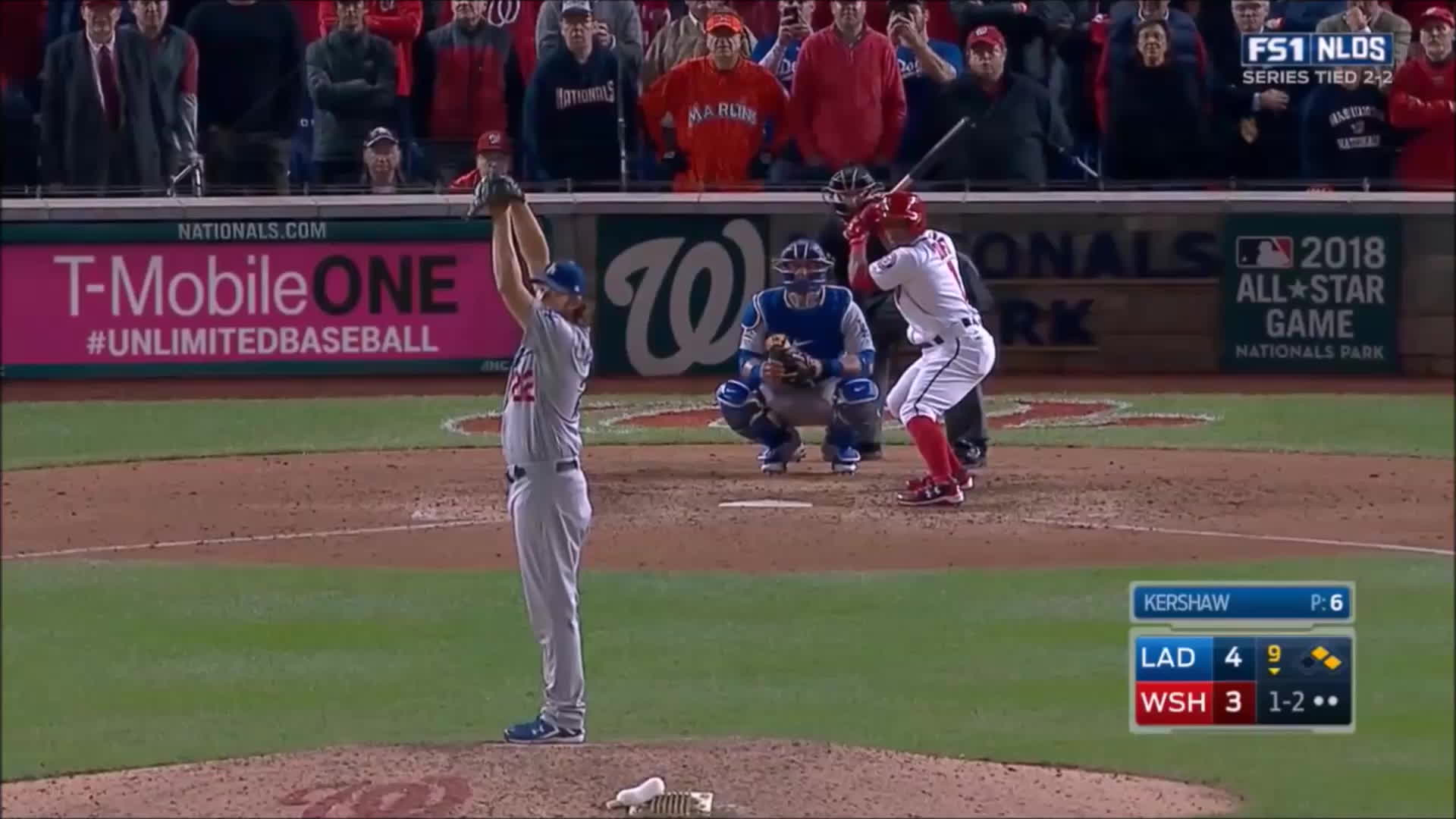 filthypitches, Kershaw Curveball that knocked out the Nationals (NLDS Game 5) GIFs