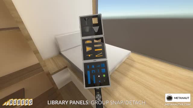 Watch Ruberg Library Panels - Group Detach GIF by metanaut (@metanaut) on Gfycat. Discover more game, ruberg, ui, virtual reality GIFs on Gfycat