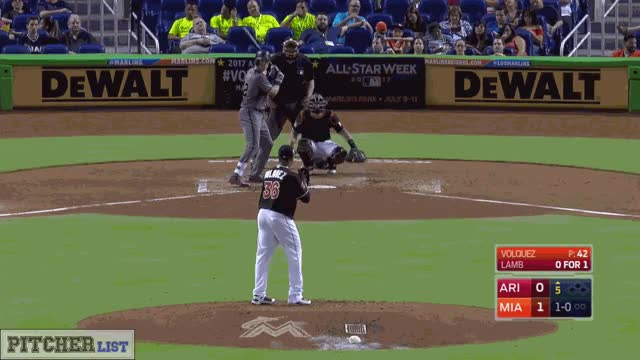 Watch and share Edinson Volquez-CB-2017 GIFs by thedongiggity on Gfycat