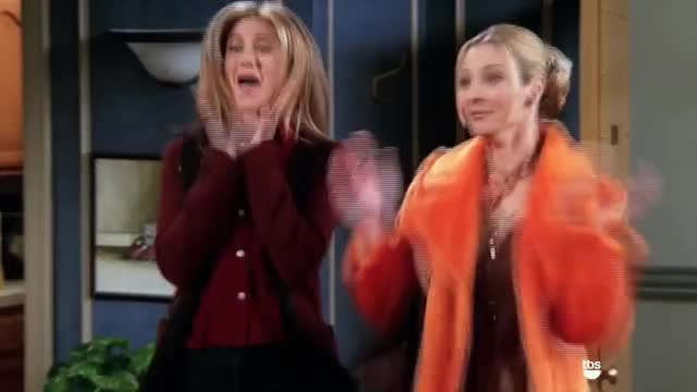 Watch this applause GIF on Gfycat. Discover more Friends, NBC, Sitcom, applause, celebrate, excited, friends, nbc, sitcom, squee, tbs, yay GIFs on Gfycat
