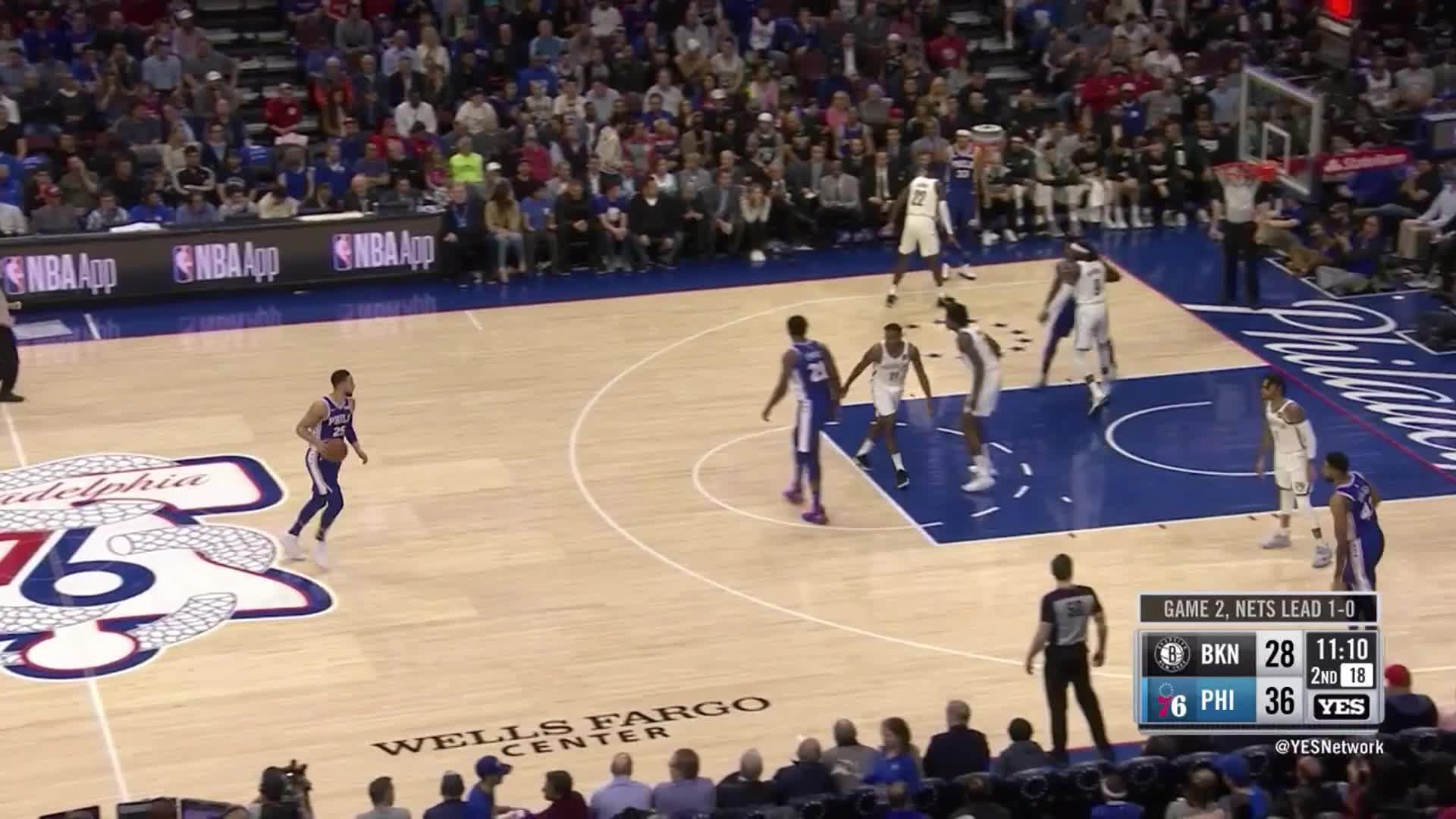 Ben Simmons, Brooklyn Nets, NBA, Philadelphia 76ers, basketball, Ben Simmons halfcourt drive G2_No Dudley GIFs