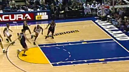 Watch and share Latrell Sprewell — Golden State Warriors GIFs by Off-Hand on Gfycat