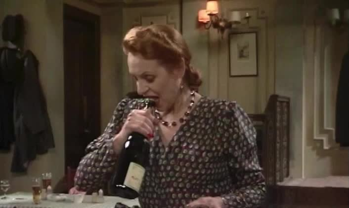 allo allo, allo allo - pull cork from wine bottle with mouth 2 GIFs
