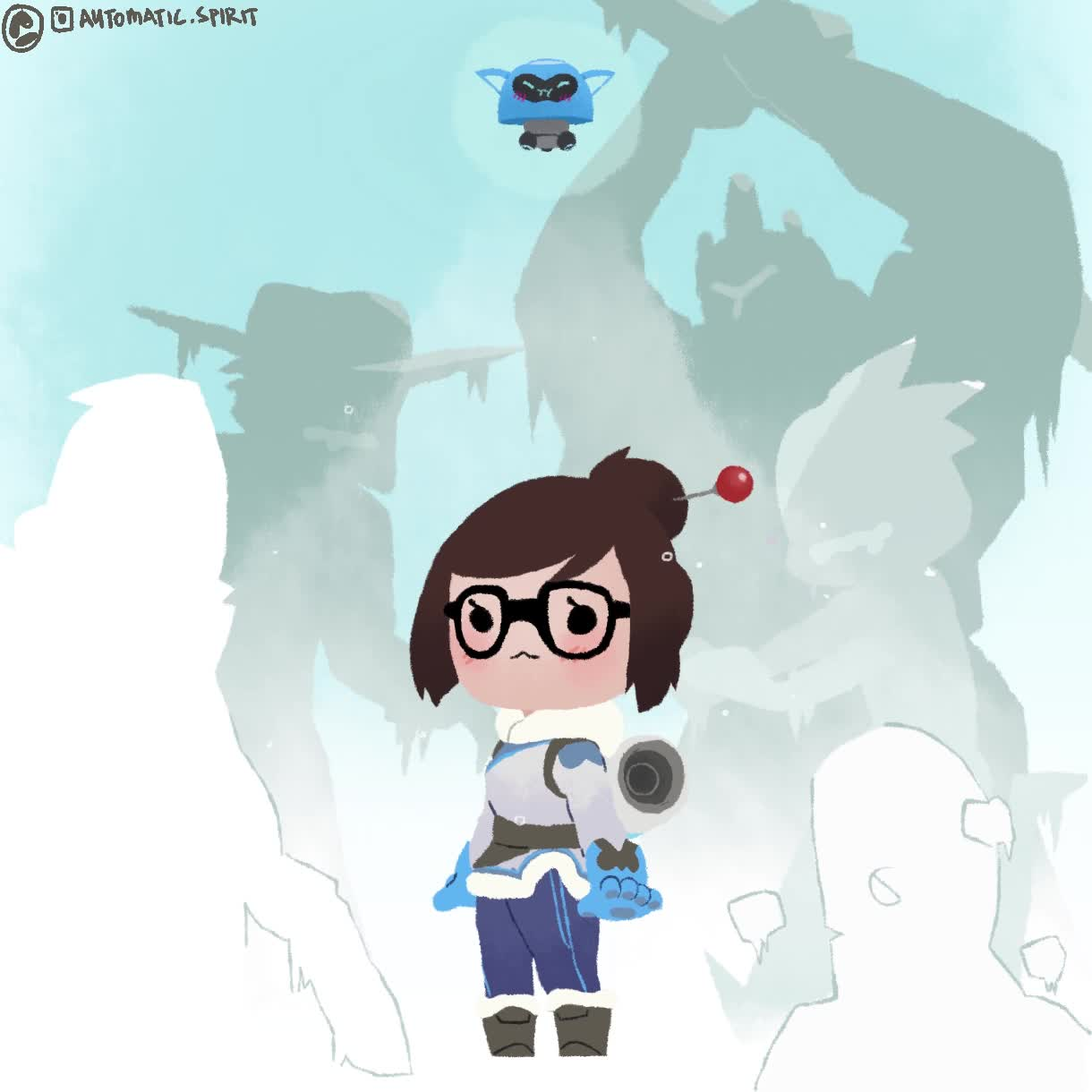 gaming, mei, overwatch, (sorry) (sorry) (sorry) GIFs