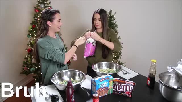 Buddy The Elf Spaghetti Challenge Merrell Twins Christmas Gif