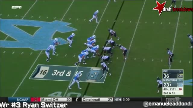 Watch and share Ryan Switzer Vs Pitt(2016) (across The Middle) GIFs by Sean McKaveney on Gfycat