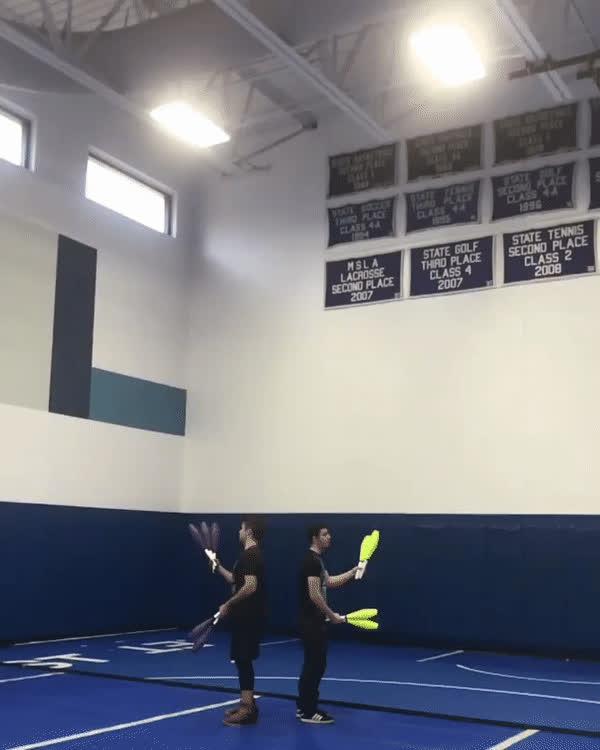 juggling, sync juggling trick GIFs